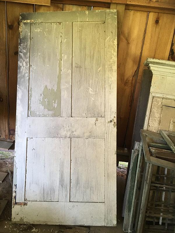 Circa 1930 reproduction four panel exterior door for 1930s external door