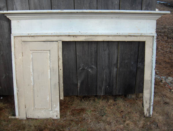 Antique Kitchen & Bake Oven Door Mantle Combination at ...