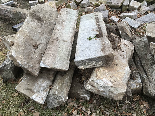 Granite Stone Foundation : Antique stone circa granite foundation top stones