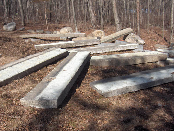 Granite Stone Foundation : Antique stone long granite foundation stones at olde new